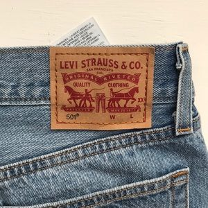 Levi's Shorts - Levi's 501 jean shorts. High waisted. Button Fly.